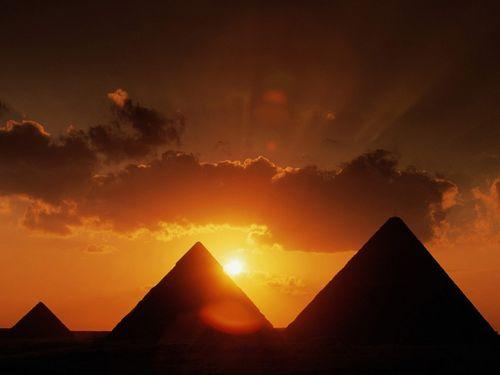 Pyramids-at-sunset