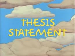 What does a thesis statement do?